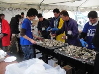 【実施例】牡蠣祭り。ジャンボ蒸し器
